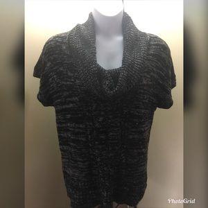 NO BOUNDARIES Women's XXL Black Cowl Neck Sweater